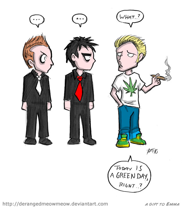 A Green Day by DerangedMeowMeow