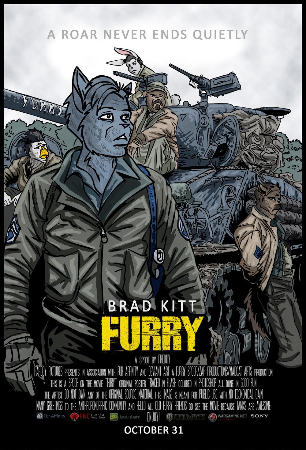 Furry spoof movie poster DerangedMeowMeow 2014 by ...