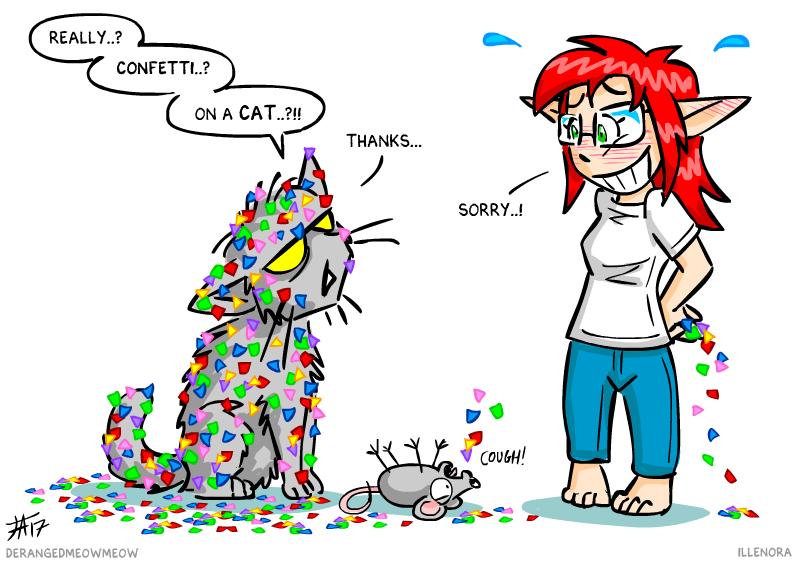 三卺#byil�g�_confetti cat - derangemeowmeow and illenora