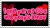 I Only pair my OC's..Stamp by Atlanta-Hammy