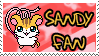 Sandy Fan Stamp by Atlanta-Hammy