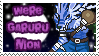 WereGarurumon Stamp by Atlanta-Hammy