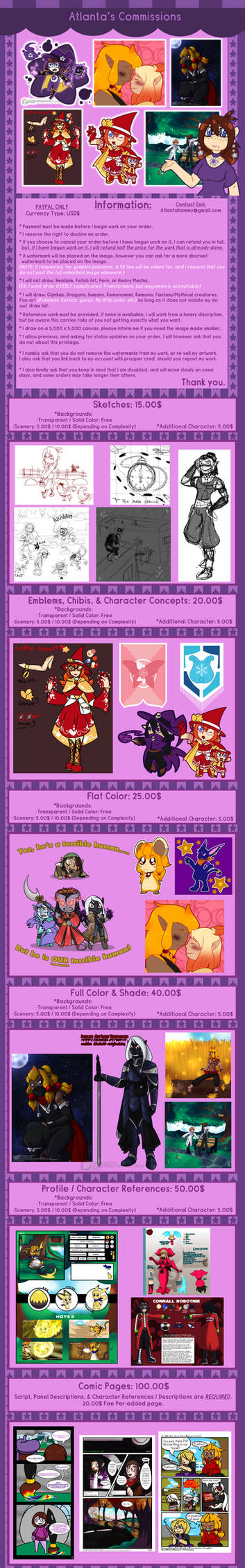 Commission  Prices: OPEN by Atlanta-Hammy