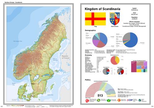 Map of Scandinavia 2020