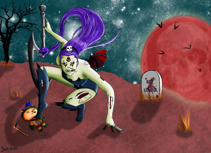 League of legends- Diana Zombie by Sakuchane