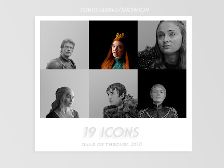 game of thrones icons by Inmyparadise