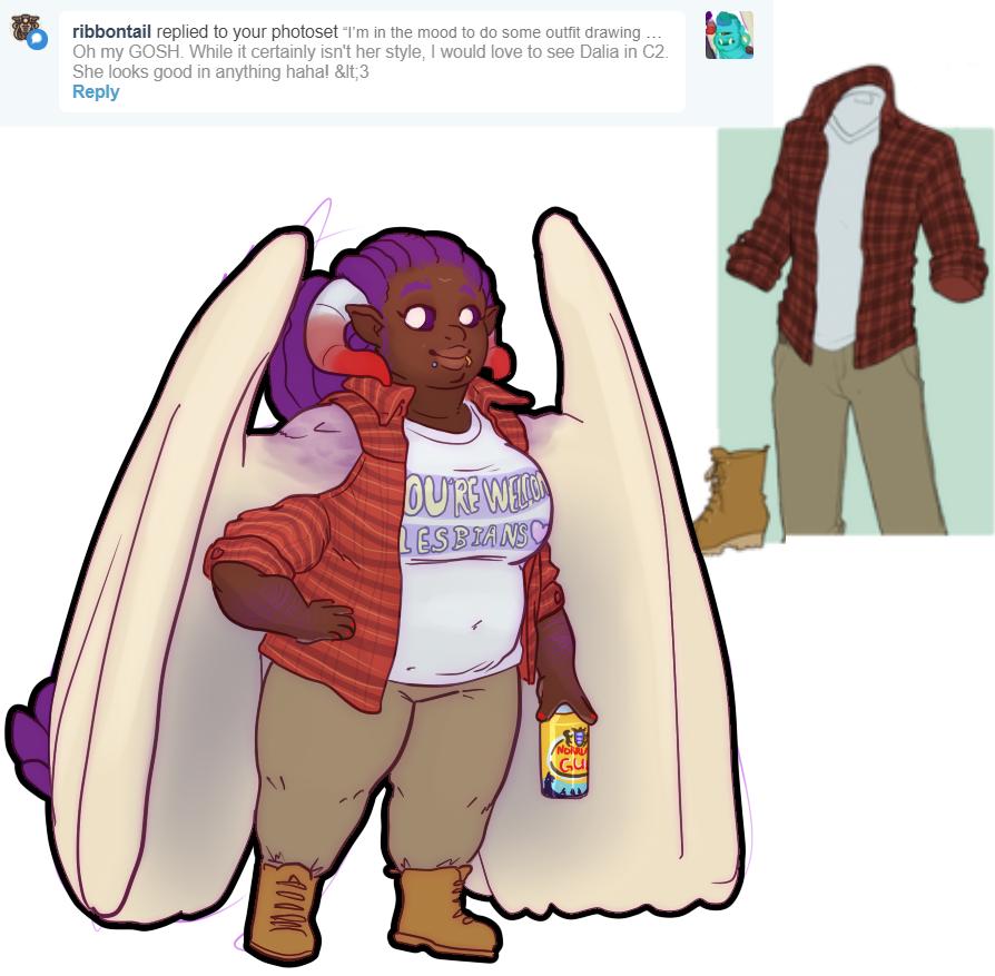 Outfit meme Dalia in flannels by CaptainBragd