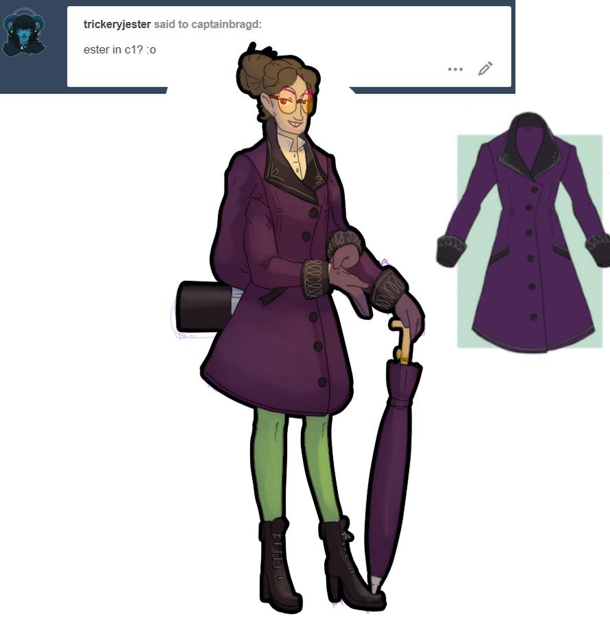 Outfit meme Ester classy coat by CaptainBragd