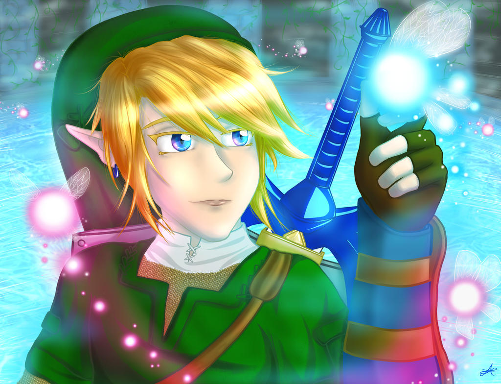 OoT Link and Navi by Hyrulekeyblade