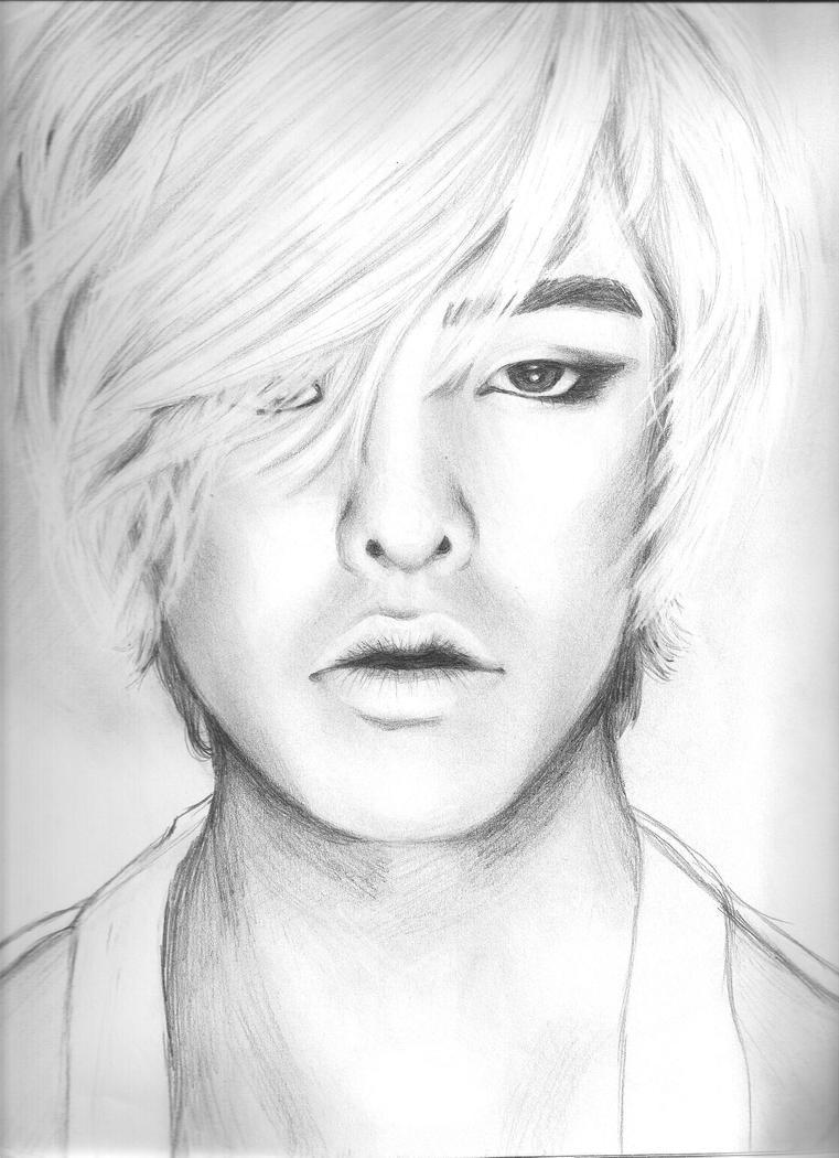 G-Dragon Pencil Drawing by Hyrulekeyblade
