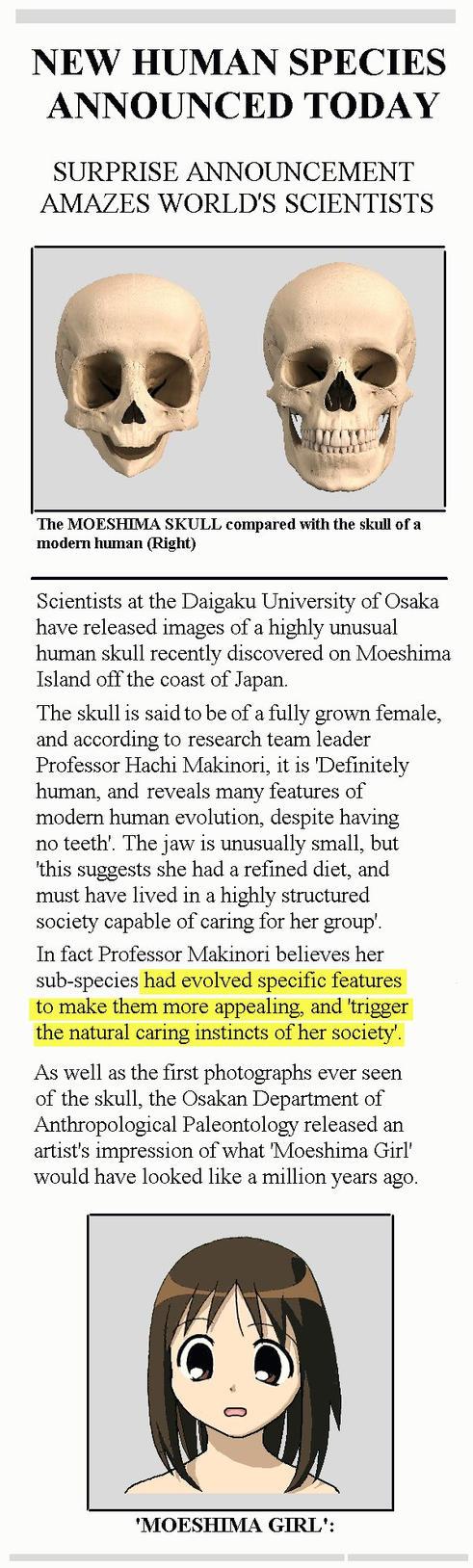 Moeshima Skull Discovered! by Lookafar