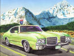 1970 Olds 442 In The Rockies