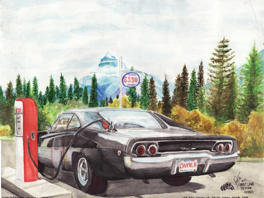 1968 dodge charger at the esso by fastlaneillustration on deviantart 1968 dodge charger at the esso by fastlaneillustration sciox Image collections