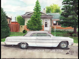 1964 Chevy Impala Drawing by FastLaneIllustration