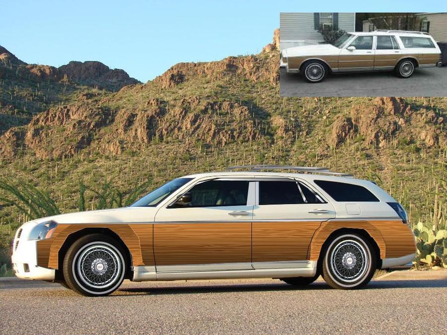 Dodge Magnum Woody Wagon Custom By Fastlaneillustration On