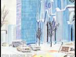 Manhattan Christmas 1979 Painting by FastLaneIllustration