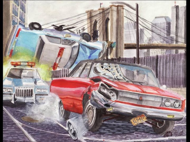 1967 Dodge Coronet Movie Car Chase By Fastlaneillustration On Deviantart