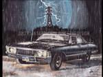 Supernatural 1967 Chevy Impala At Night
