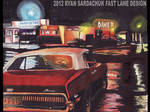 1967 Mercury Cougar At Diner During The Night