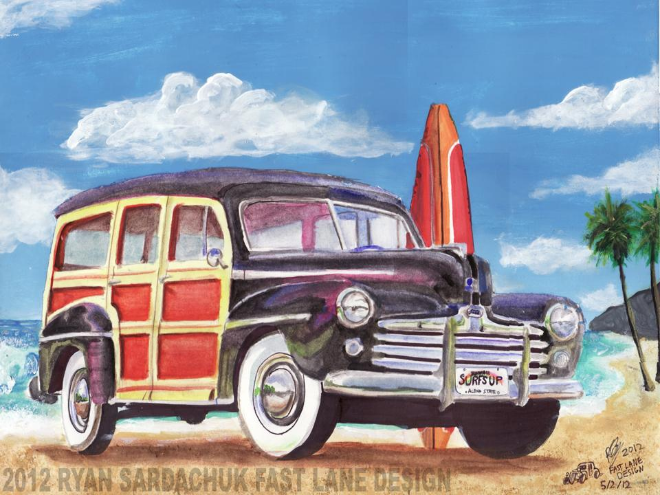 Woody Car Drawing Beach Woody Car Imagefriend