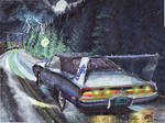 1969 Dodge Charger Daytona In The Rain (painting)