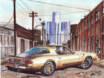 1980 Chevy Camaro In Detroit (Painting)