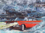 Christine (1958 Plymouth Fury Painting)