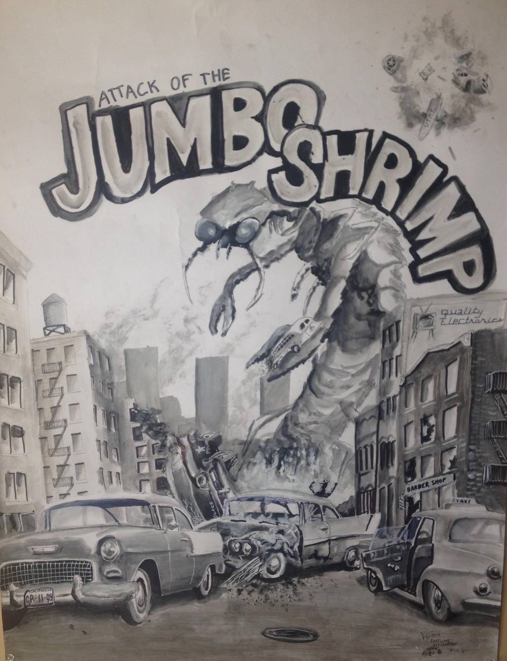Attack Of The Jumbo Shrimp (Painting) by ...