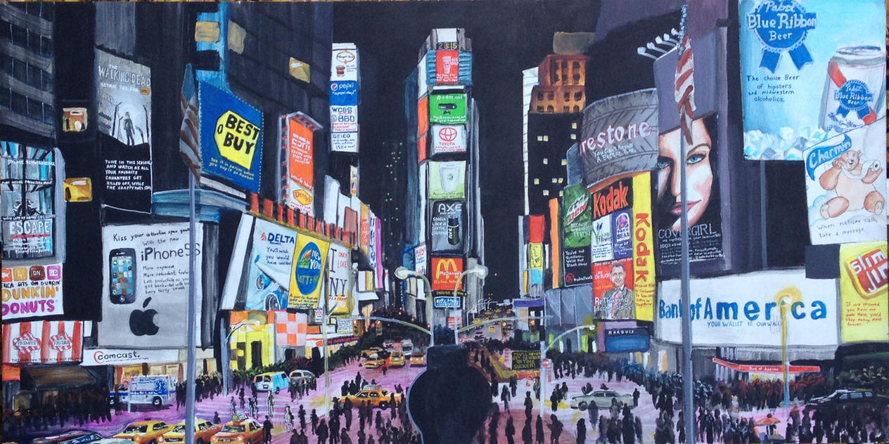 The Brutally Honest Big Apple (Satire Painting) by FastLaneIllustration