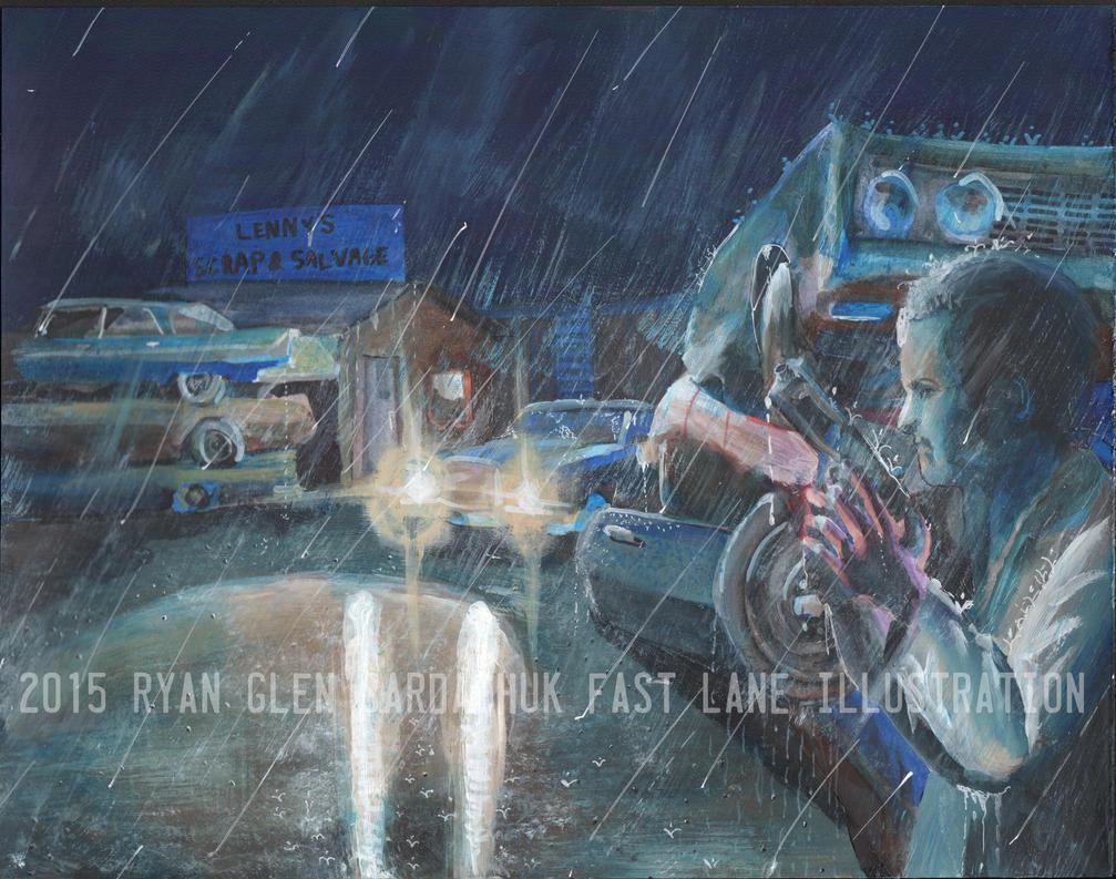 Scrapyard Ambush (Painting) by FastLaneIllustration