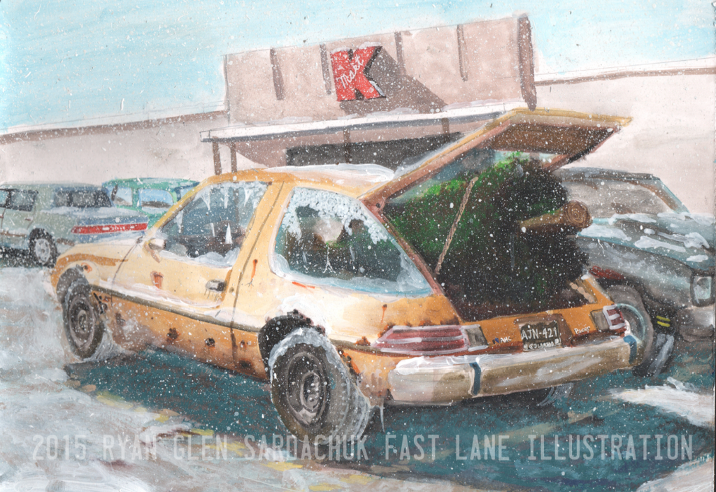 The Lovable Loser (AMC Pacer Painting) by FastLaneIllustration