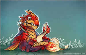 Dragon_courier by IrisErelar
