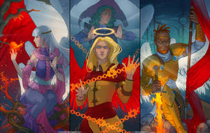 The Angel triptych by IrisErelar