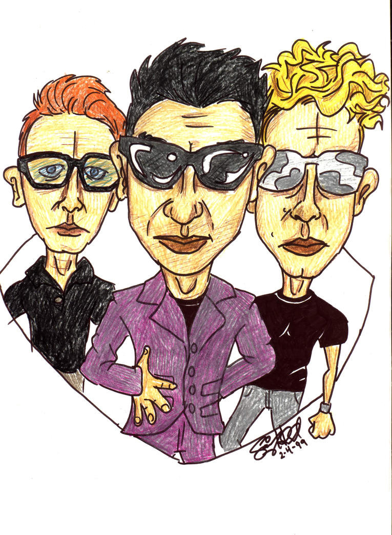 Depeche Mode Drawing by Saifswayzzz