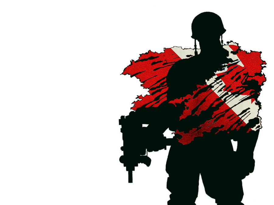 Soldier With Canadian Flag by UltimateSin78 on DeviantArt