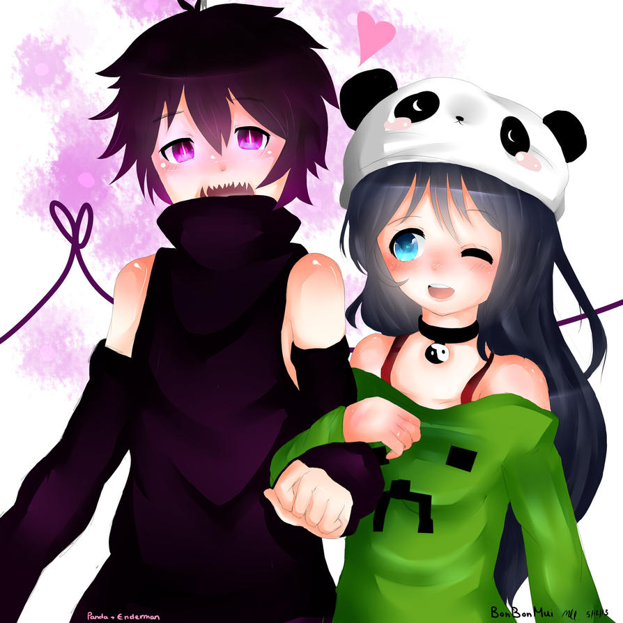 minecraft anime enderman and creeper traffic club