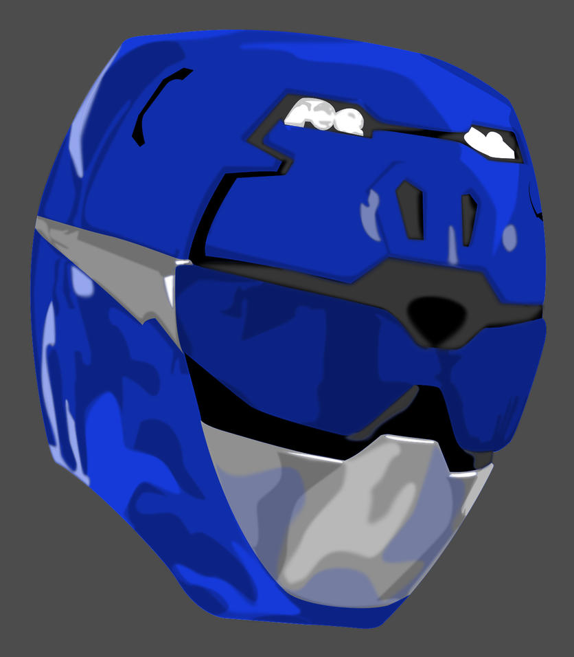 Vector Helmet: Blue GO BUSTERS by maddaluther on DeviantArt