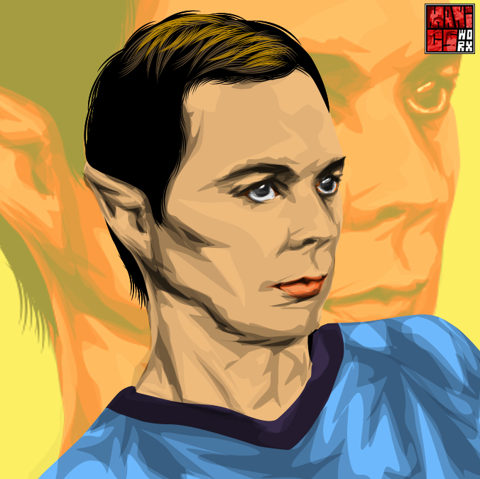 Sheldon Cooper Spock by maddaluther