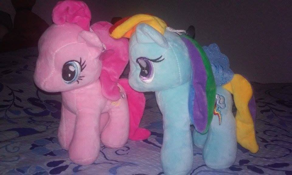 Pinkie and Rainbow plushies by XUhuruX