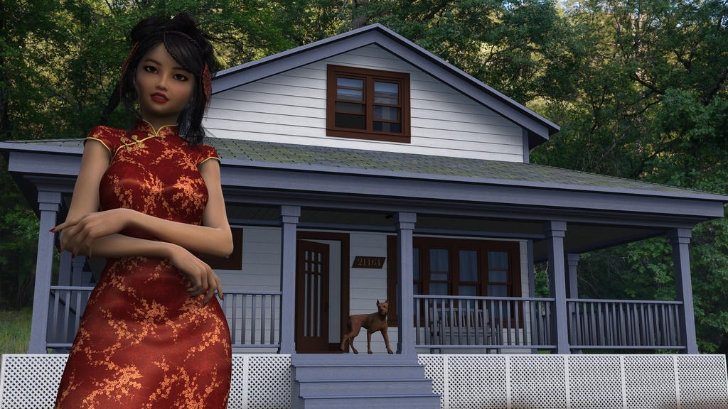 Tiffany in front of her house wallpaper By SimonJM by Tiffany-Hailes