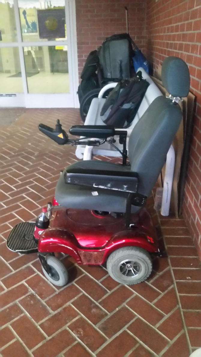 Merits Powerchair Side View by Tiffany-Hailes