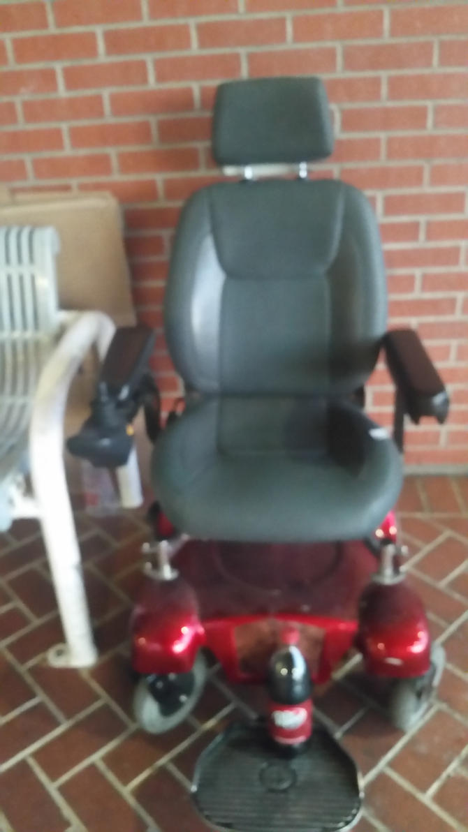 Merits Powerchair Front View by Tiffany-Hailes