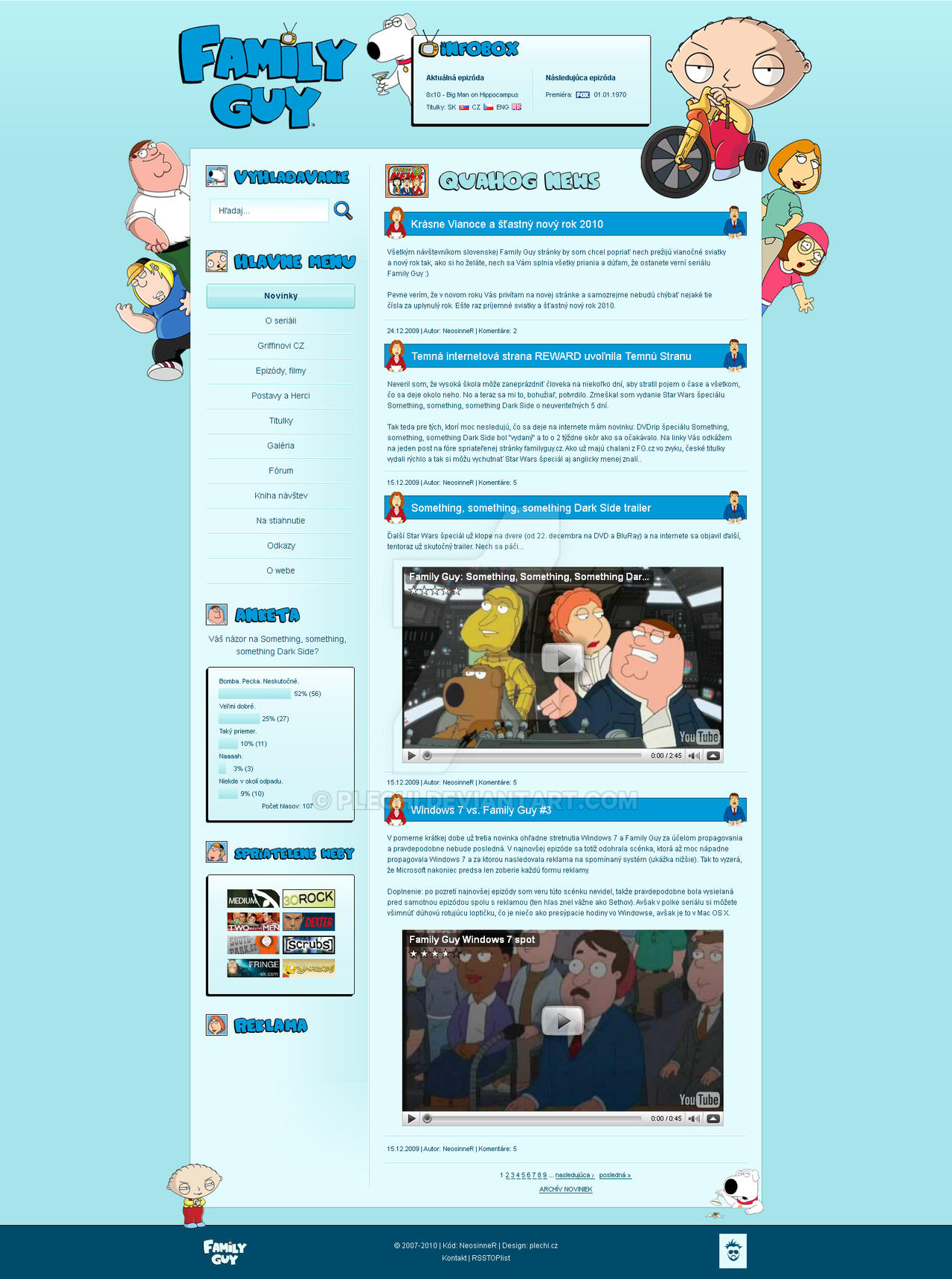 Family guy fan site by plechi