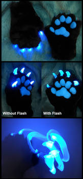 Glowrune paws by Sharpe19