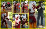 JAFAX: fire chicken collage