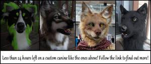Custom canine auction Reminder!