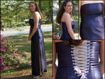 Blue and Silver Prom Gown