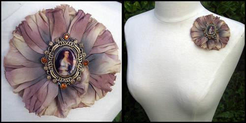 China Silk Brooch - Georgianna