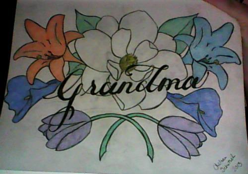 Grandma Tattoo In Color by ArtisticBabyGirl2