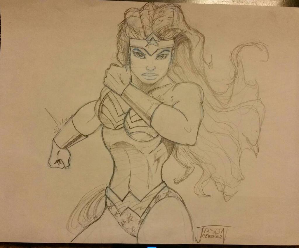 Wonder woman pencil
